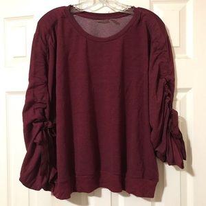Adorable adjustable sleeve sweatshirt